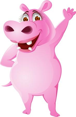 Female hippo  Illustration