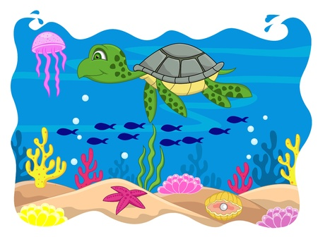 anemones: Turtle cartoon