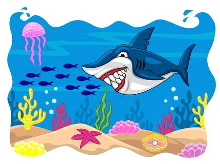 Shark cartoon  Stock Vector - 13496380