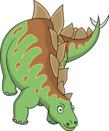 Stegosaurus cartoon  Vector