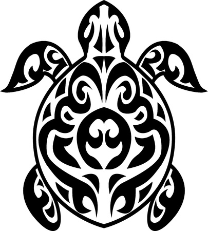 tatouage: Tortue tatouage tribal Illustration