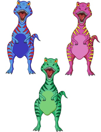 Dinosaur cartoon  Vector
