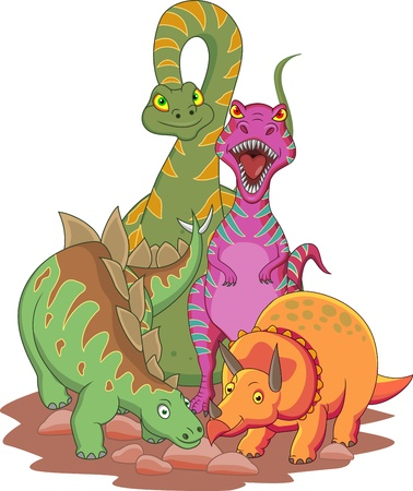 prehistoric animals: Dinosaur cartoon