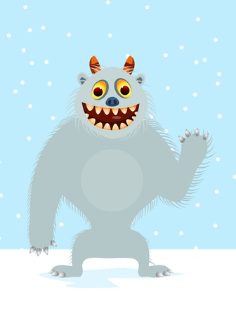 yeti: yeti cartoon Illustration