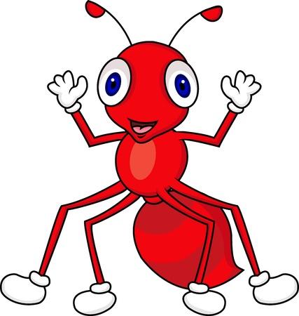 hormiga caricatura: la hormiga de dibujos animados