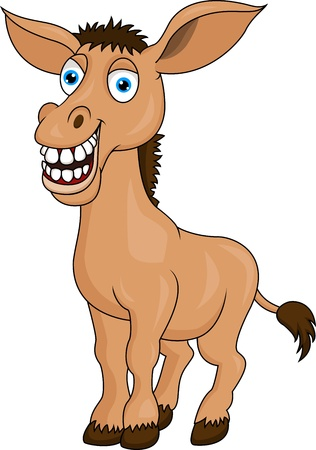 mule: Smiling donkey cartoon
