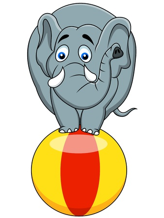 Elephant circus Stock Vector - 13494866