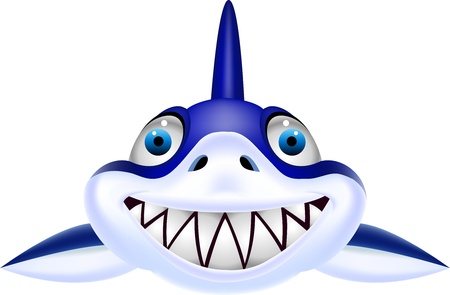 Shark head Vector
