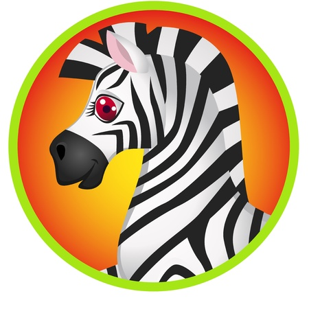 personage: Zebra cartoon  Illustration