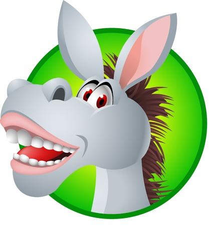 culo: De dibujos animados burro divertido Vectores