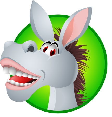 Funny donkey cartoon  Vector