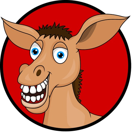 Horse donkey cartoon Vector