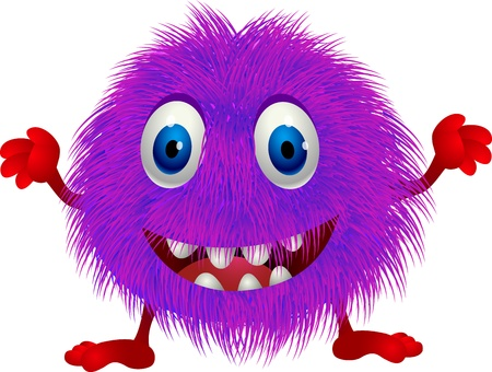 Hairy purple cartoon  Vector