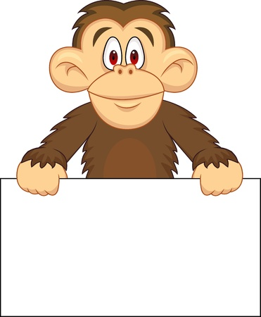 Chimpanzee carton Stock Vector - 13496452