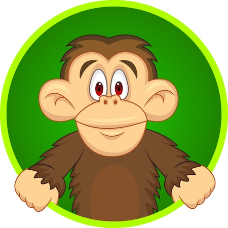 Chimpanzee carton  Vector