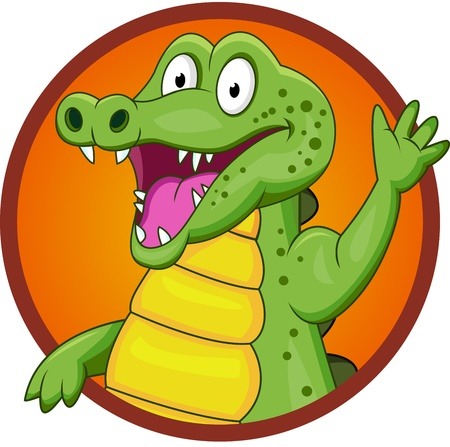 safari: crocodile cartoon Illustration