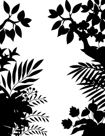 Jungle silhouette Stock Vector - 13495358