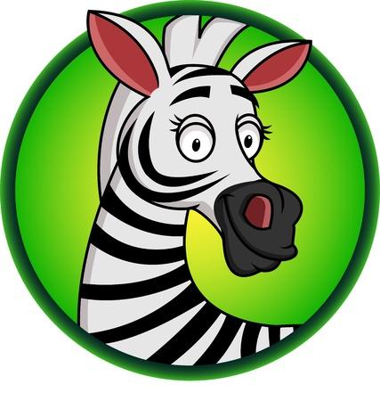 cebra: Zebra de dibujos animados