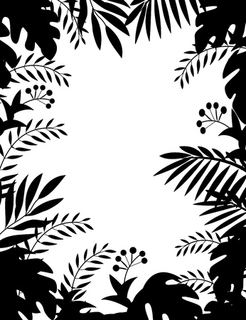 Jungle silhouette  Illustration