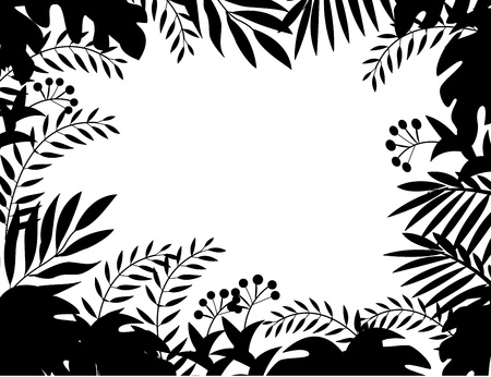 landscaped: Jungle silhouette  Illustration
