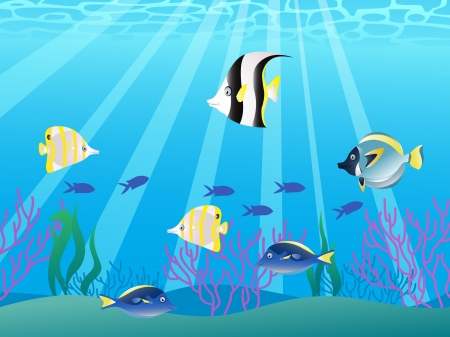 angel fish: Vector illustration of beautiful fish