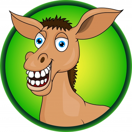 horse donkey cartoon Illustration