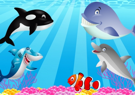 sea life cartoon Stock Vector - 13497095