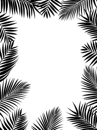 silueta hoja: Palma silueta de la hoja Vectores