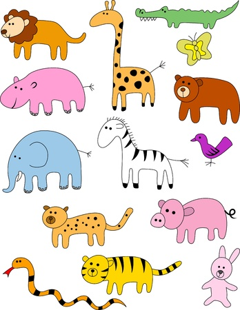 Animal doodle collection  Stock Vector - 13494965