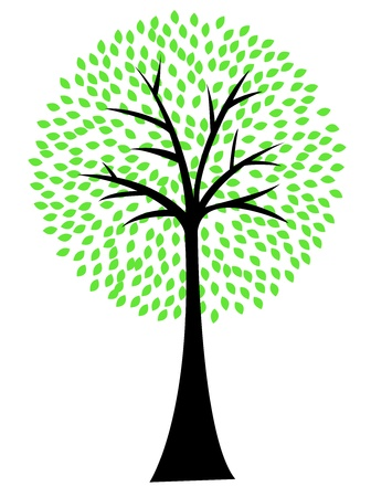 Art tree silhouette isolated on white background Stock Vector - 13494861