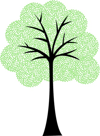 Art tree silhouette isolated on white background Stock Vector - 13496697