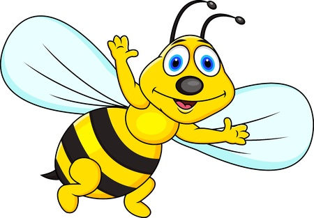 honeybee: Funny bee cartoon  Illustration
