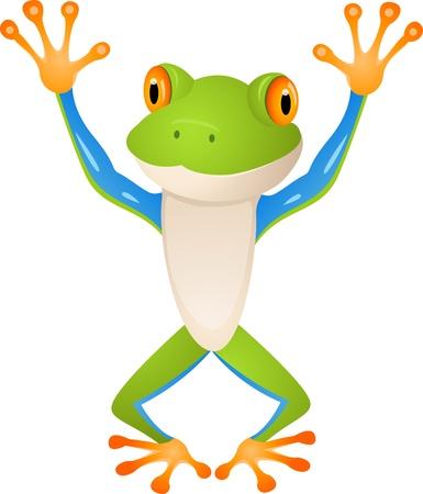 лягушка: Забавные лягушки Иллюстрация