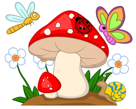 mushroom illustration: Small animal  Illustration