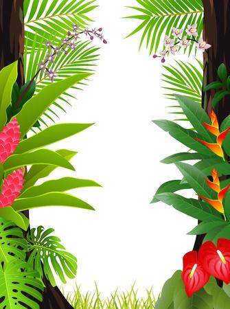 Tropenwald Hintergrund Vektorgrafik