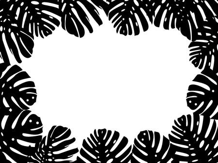 Tropical leaf background  Illustration