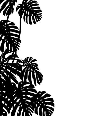 jungle background: Tropical leaf background  Illustration