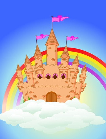 fairytale castle: Fairy castle Illustration