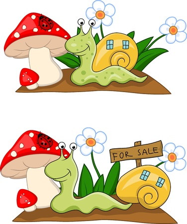 mobil: Snail cartoon