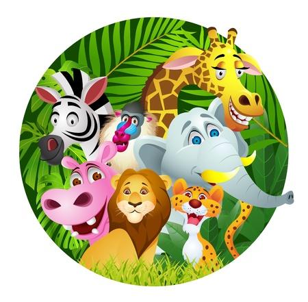 mandril: los animales de dibujos animados Vectores