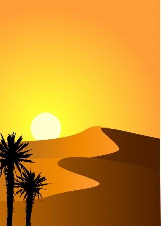 palm desert: Desert sfondo Vettoriali