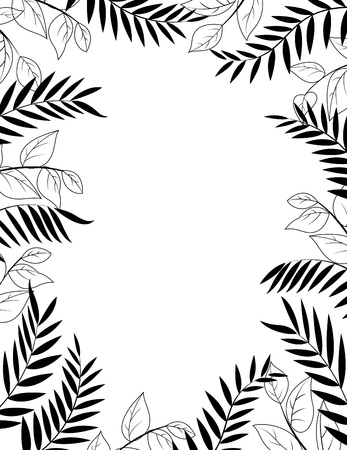 Jungle silhouette  Stock Vector - 13726421