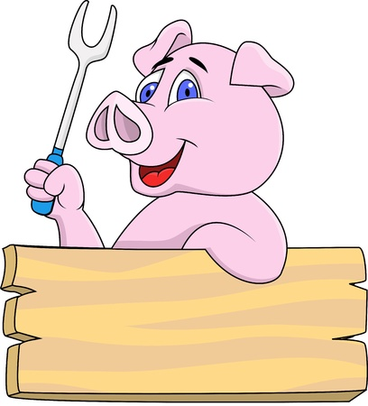 cerdo caricatura: Cerdo Chef