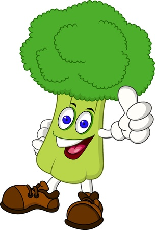 broccoli cartoon character Vector