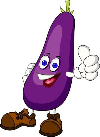 food clipart: eggplant cartoon character