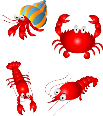 crab cartoon: Crustacean Character
