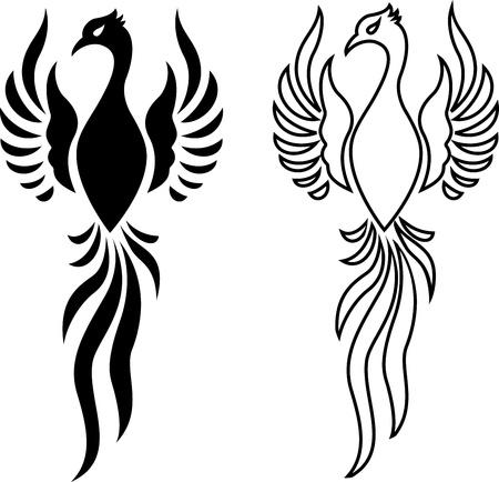 tatouage: Phoenix oiseau de tatouage Illustration