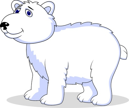 tundra: polar bear cartoon  Illustration