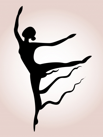 theatrical dance: Ballet art silhouette