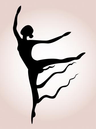 bailarines silueta: Ballet de la silueta del arte